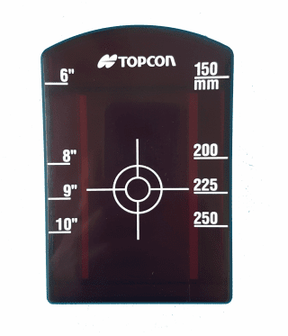 Topcon TP-L Series Pipe Laser Target Insert Front