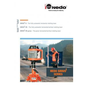 Nedo Sirius Laser Level Brochure