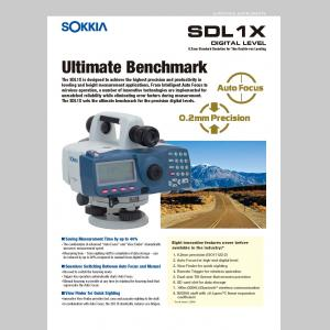Sokkia SDL1X Digital Level Brochure