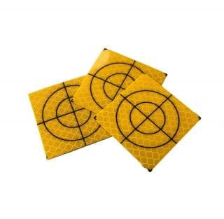 Yellow Retro Targets 30mm