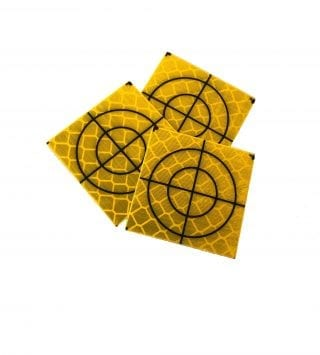 Yellow Retro Targets 50mm