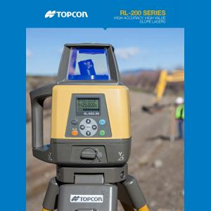 Topcon RL-200 Series Rotating Slope Laser Level Brochure